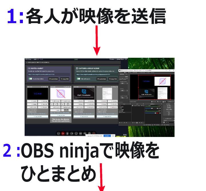 ゲーム実況で複数人・遠隔でゲーム画面・カメラ映像を録画配信する方法
